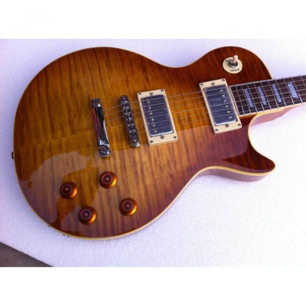 Custom Shop Flame Maple Top Iced Tea Electric Guitar #5 image