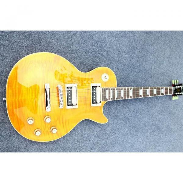 Custom Shop Flame Maple Top Sunburst Electric Guitar #2 image