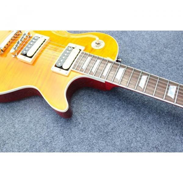 Custom Shop Flame Maple Top Sunburst Electric Guitar #5 image