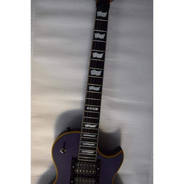Custom Shop ESP Eclipse Purple Matte Electric guitar #3 image