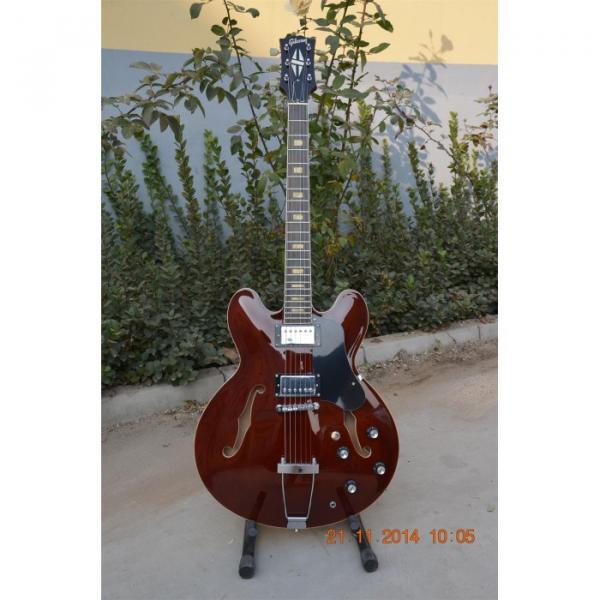 Custom Shop ES335 Curly Walnut Brown Electric Guitar #1 image