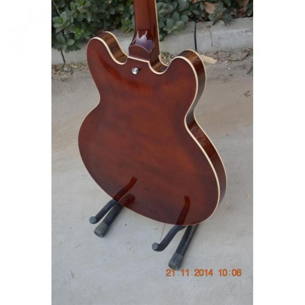 Custom Shop ES335 Curly Walnut Brown Electric Guitar #4 image