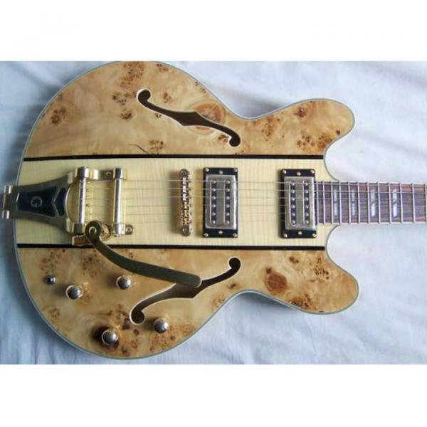 Custom Shop ES335 Spalted Natural Maple Veneer Electric Guitar #1 image