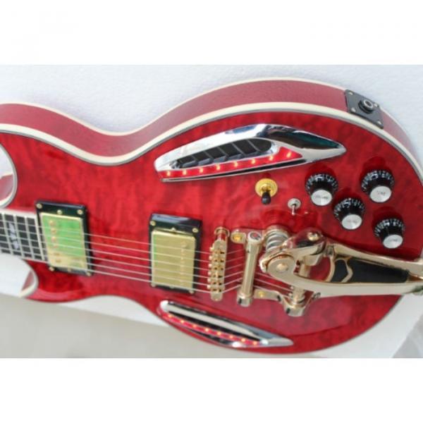 Custom Shop ES 335 Bigbys Maple Red LED Jazz Electric Guitar #2 image