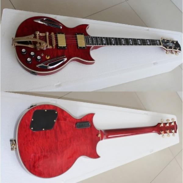 Custom Shop ES 335 Bigbys Maple Red LED Jazz Electric Guitar #4 image