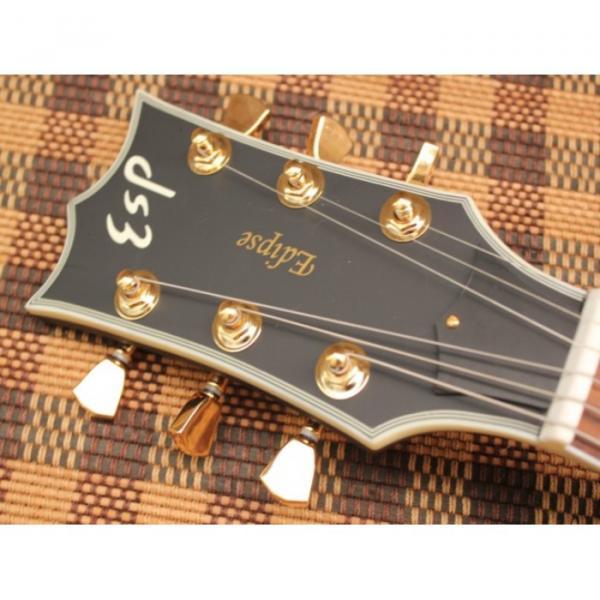 Custom Shop Eclipse ESP Matte Finish Black Electric Guitar #2 image