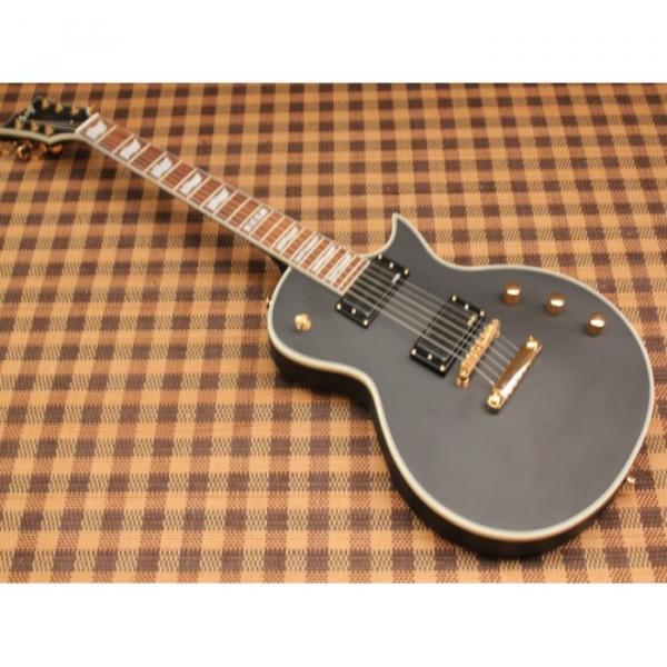 Custom Shop Eclipse ESP Matte Finish Black Electric Guitar #4 image