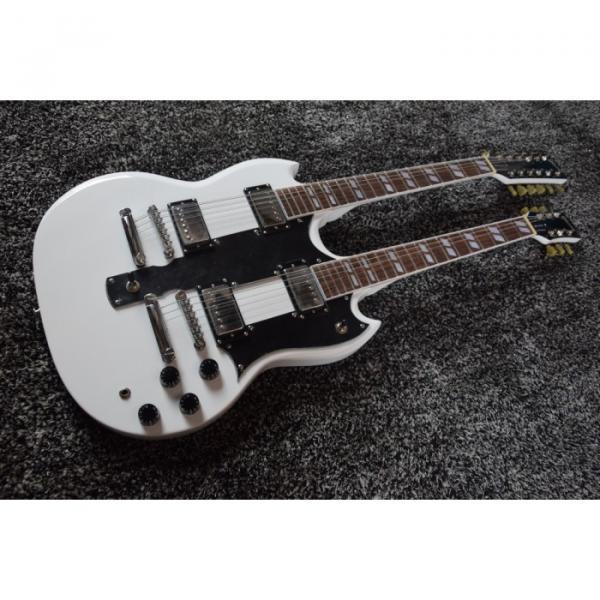 Custom Shop Don Felder EDS 1275 SG Double Neck Arctic White Electric Guitar #1 image