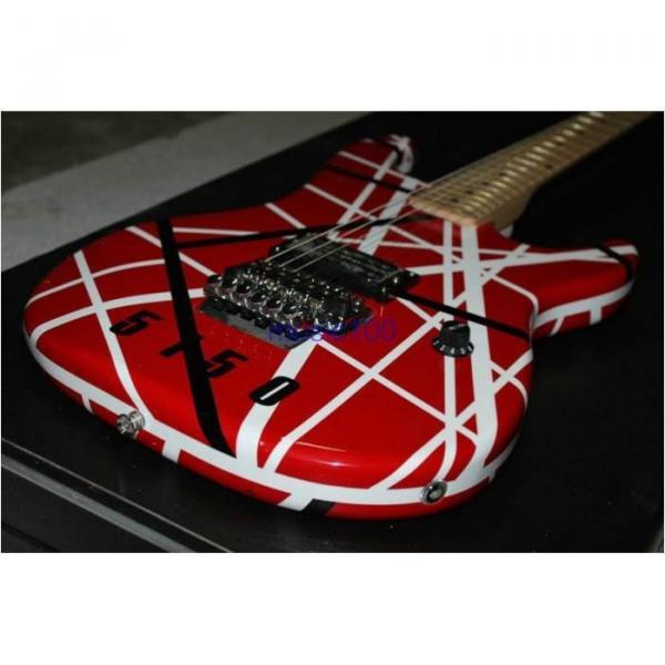 Custom Shop EVH 5150 Black White Stripes Electric Guitar #9 image