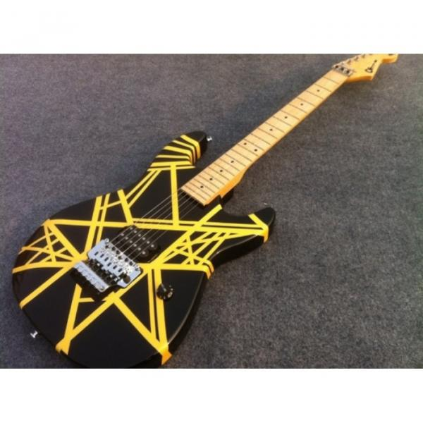 Custom Shop Charvel EVH 5150 Black Yellow Stripe Electric Guitar #1 image