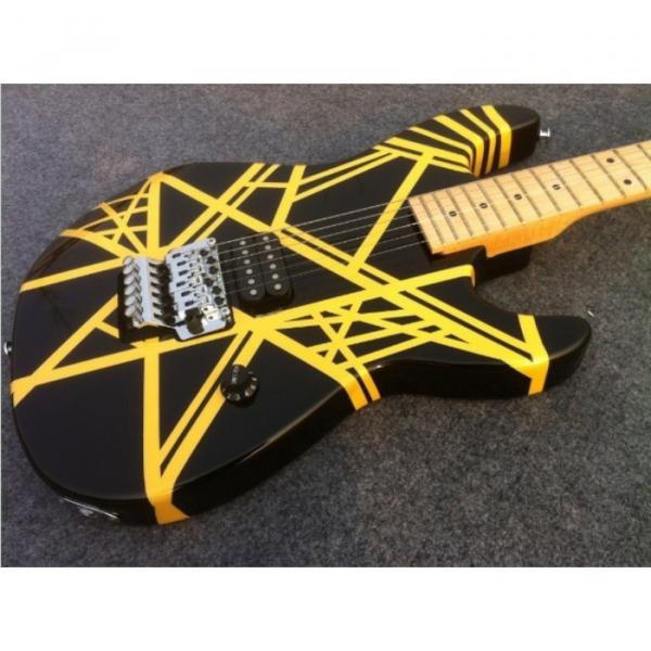Custom Shop Charvel EVH 5150 Black Yellow Stripe Electric Guitar #2 image