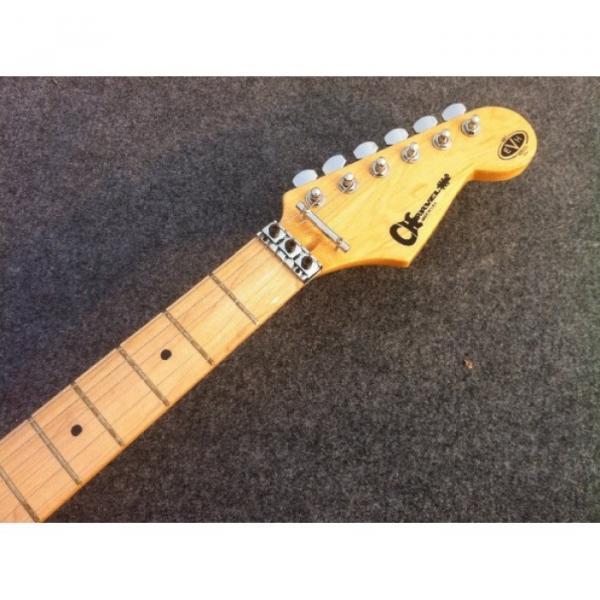 Custom Shop Charvel EVH 5150 Black Yellow Stripe Electric Guitar #4 image