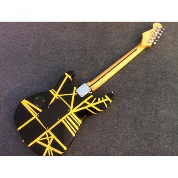 Custom Shop Charvel EVH 5150 Black Yellow Stripe Electric Guitar #5 image