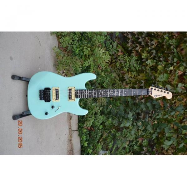 Custom Shop Charvel Dimas Sea Foam Blue Electric Guitar #3 image