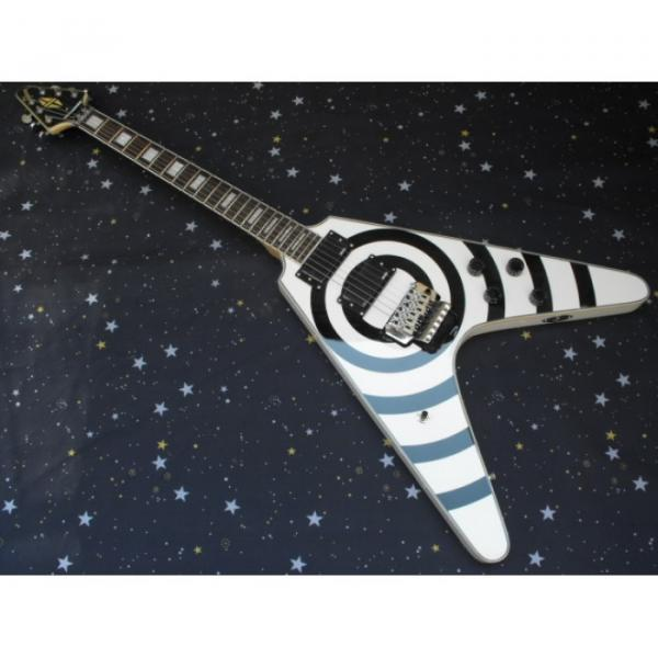 Custom Shop Buzzsaw guitarra Flying V Electric Guitar #1 image