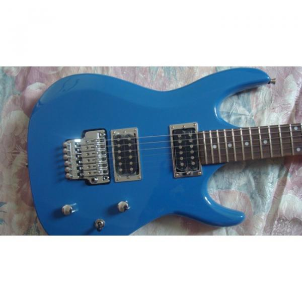 Custom Shop Blue Ibanez Jem 7 Electric Guitar #1 image