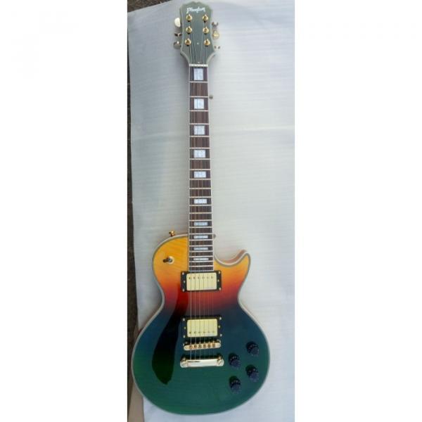 Custom Shop Al Di Meola Prism AAA Flame Maple Top Electric Guitar #3 image