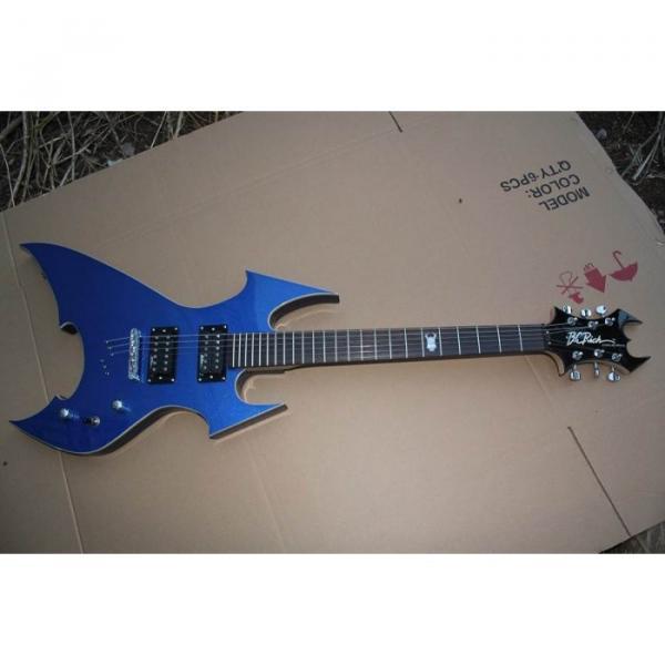 Custom Shop Avenge Blue BC Rich Electric Guitar #4 image