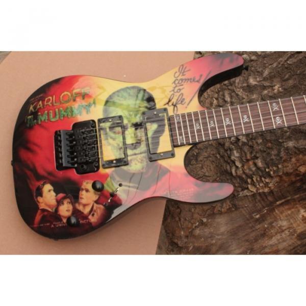 Custom Movie ESP Karloff Mummy Electric Guitar #1 image