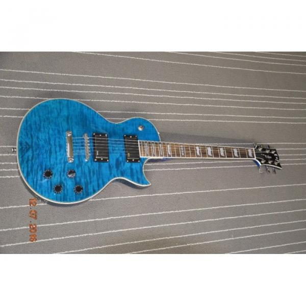 Custom LTD Deluxe ESP Eclipse Blue Quilted Maple Electric Guitar #1 image