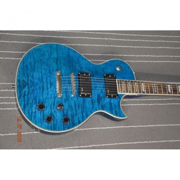Custom LTD Deluxe ESP Eclipse Blue Quilted Maple Electric Guitar #3 image