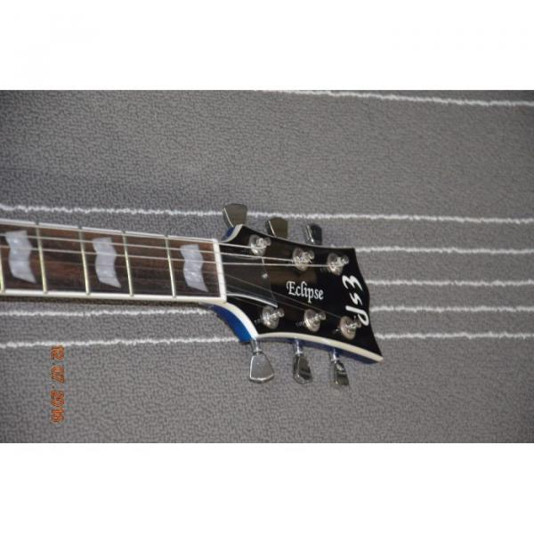 Custom LTD Deluxe ESP Eclipse Blue Quilted Maple Electric Guitar #4 image