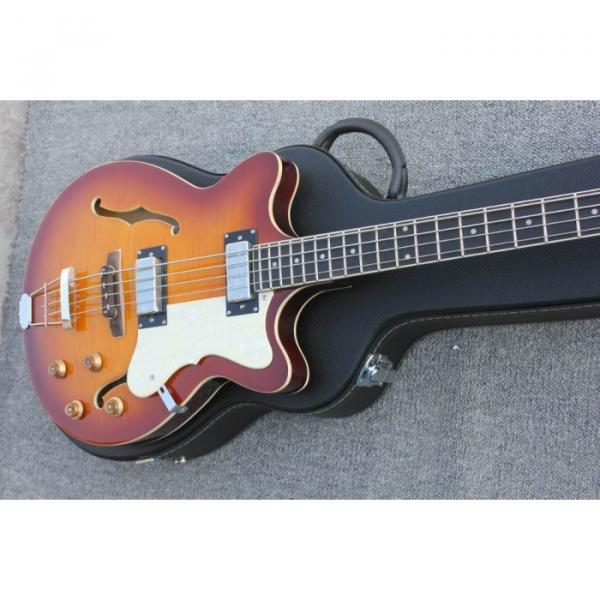 Custom Hofner Tobacco Color Fhole Jazz Electric Guitar #3 image