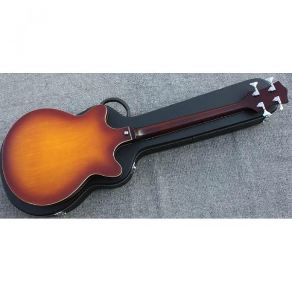 Custom Hofner Tobacco Color Fhole Jazz Electric Guitar #4 image