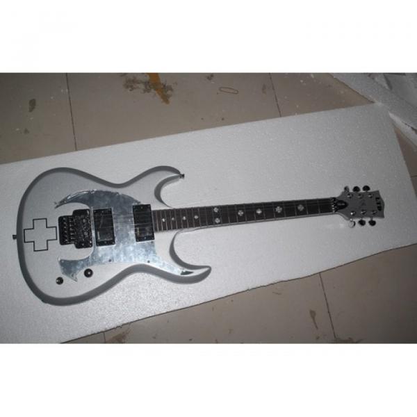 Custom ESP RZK 600 Model Electric Guitar Silver Color #1 image