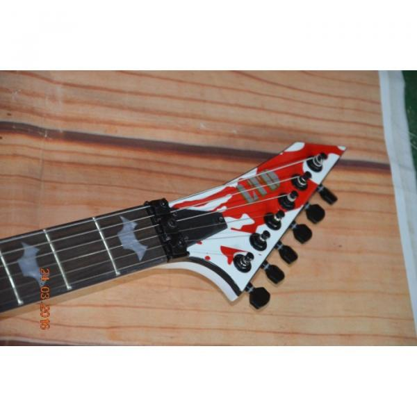 Custom Built Dan Jacobs Flying V ESP LTD Blood Spatter Electric Guitar #4 image