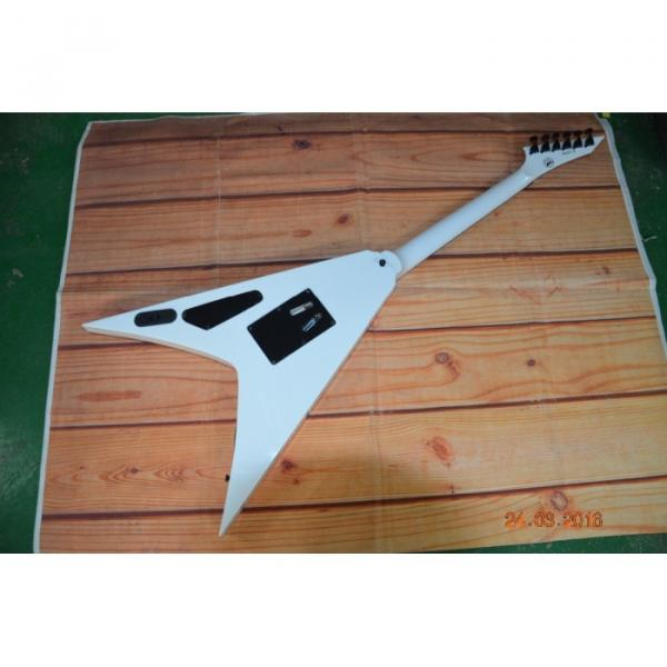 Custom Built Dan Jacobs Flying V ESP LTD Blood Spatter Electric Guitar #5 image