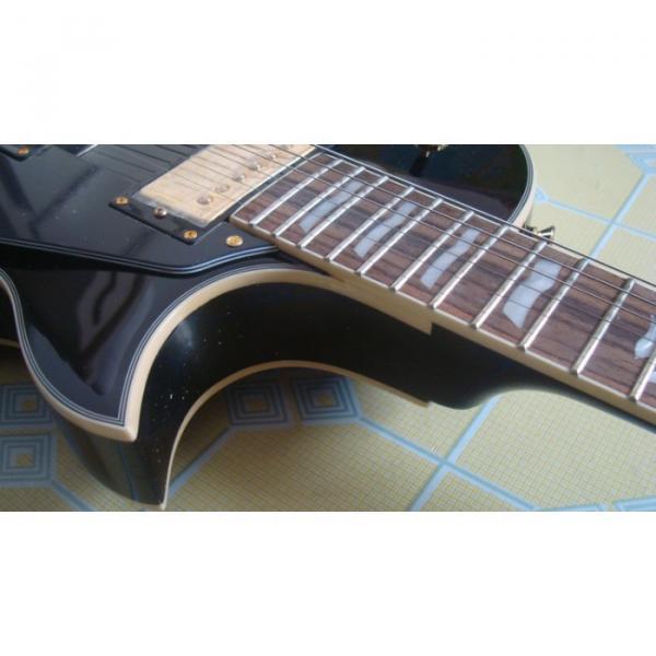 Custom Black ESP Black Beauty Electric Guitar #3 image