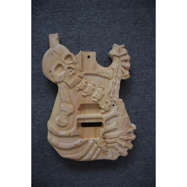Custom  ESP Unfinished Carved Skull Electric Guitar #1 image
