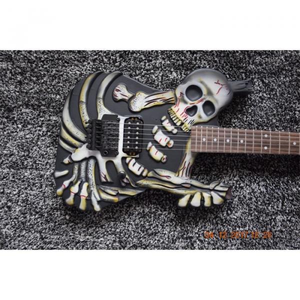 Custom  ESP Black Carved Skull Electric Guitar #3 image