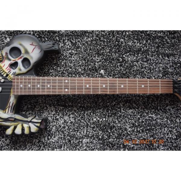 Custom  ESP Black Carved Skull Electric Guitar #5 image