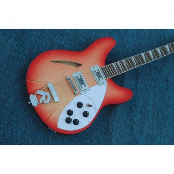 12 Strings Rickenbacker 360  2 Pickups Cherry Burst Electric Guitar #3 image