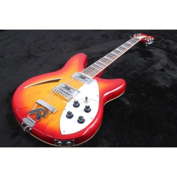 12 Strings Custom 360 2 Pickups Cherry SunBurst Electric Guitar #1 image