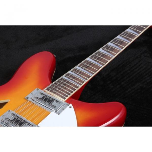 12 Strings Custom 360 2 Pickups Cherry SunBurst Electric Guitar #2 image