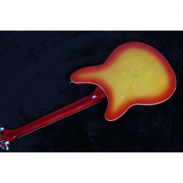 12 Strings Custom 360 2 Pickups Cherry SunBurst Electric Guitar #4 image