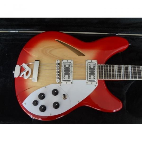 12 Strings Custom 360 2 Pickups Cherry Burst Electric Guitar #1 image