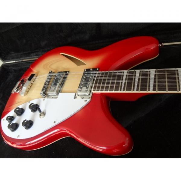 12 Strings Custom 360 2 Pickups Cherry Burst Electric Guitar #2 image