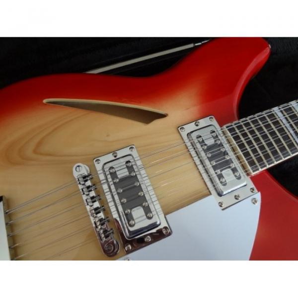 12 Strings Custom 360 2 Pickups Cherry Burst Electric Guitar #3 image