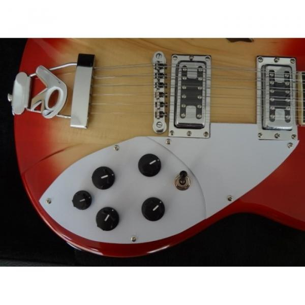 12 Strings Custom 360 2 Pickups Cherry Burst Electric Guitar #5 image