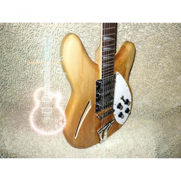 12 Strings Custom 360  3 Pickups Naturalglo Electric Guitar #2 image