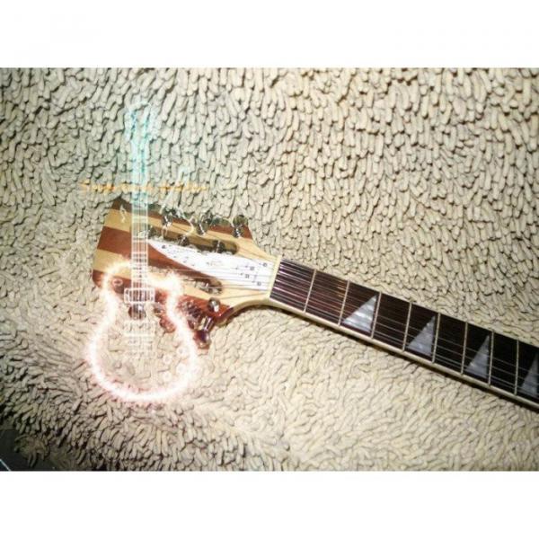 12 Strings Custom 360  3 Pickups Naturalglo Electric Guitar #3 image