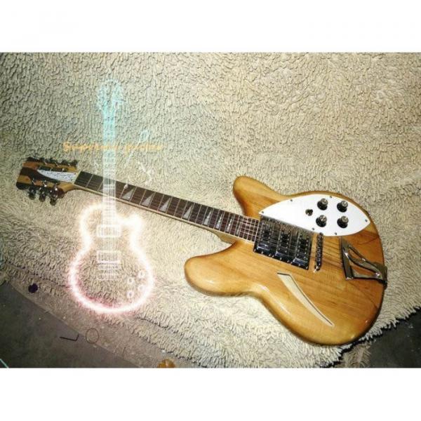 12 Strings Custom 360  3 Pickups Naturalglo Electric Guitar #4 image