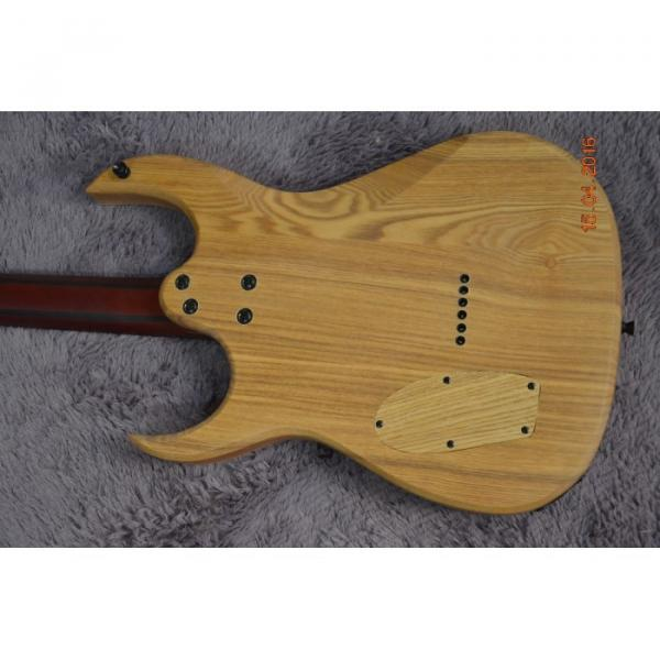 Custom Shop Black Machine 6 String Quilted Blue Maple Top Electric Guitar #2 image