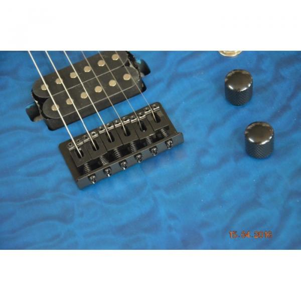 Custom Shop Black Machine 6 String Quilted Blue Maple Top Electric Guitar #5 image