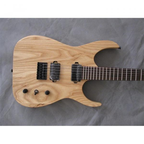 Custom Shop Black Machine 6 String Natural Wood Electric Guitar #1 image