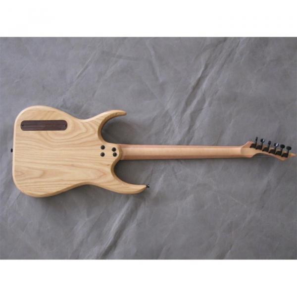 Custom Shop Black Machine 6 String Natural Wood Electric Guitar #4 image